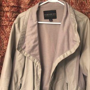 """Foreve 21 """"leather"""" jacket. Size 3X"""
